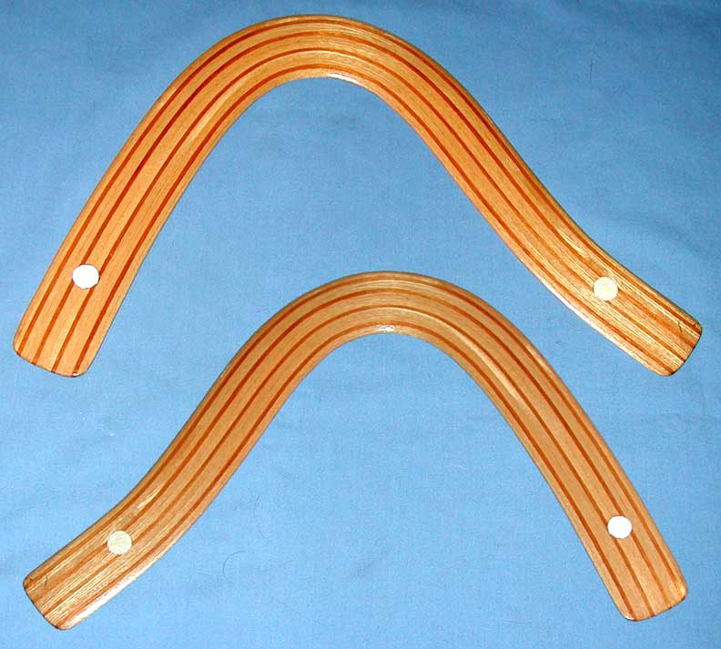 strip laminated boomerangs