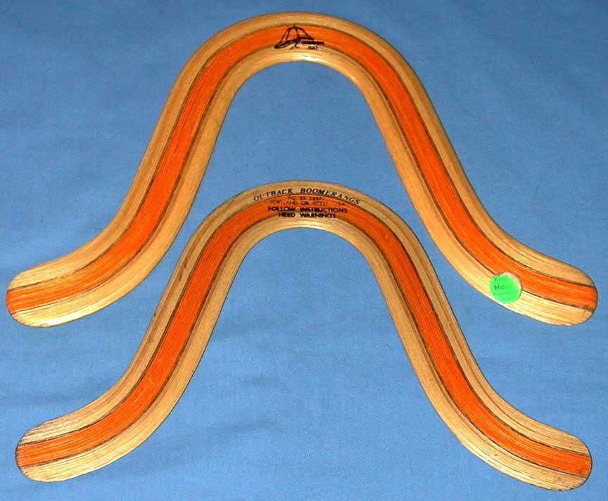 strip laminated boomerangs